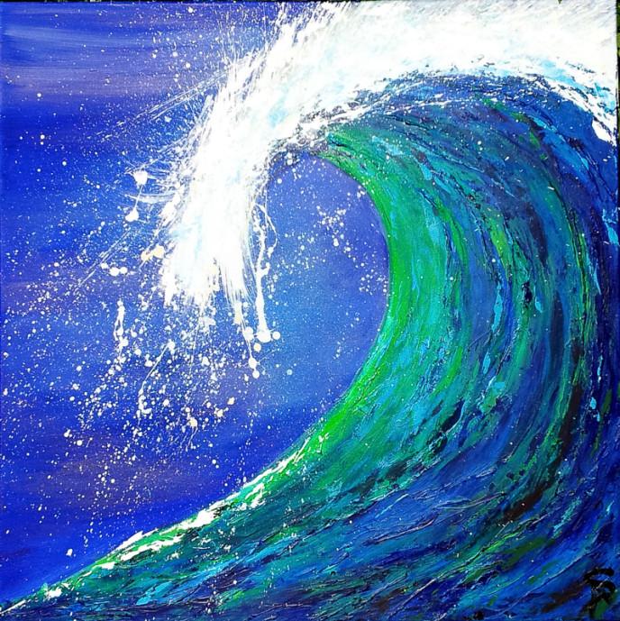 Wave 5 100x100x4cm Acrylic