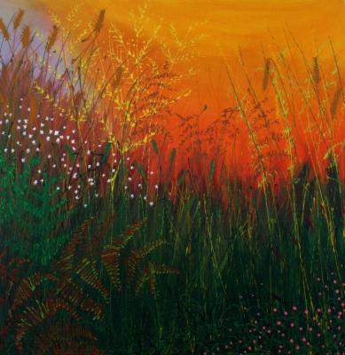 Hayfield sunrise