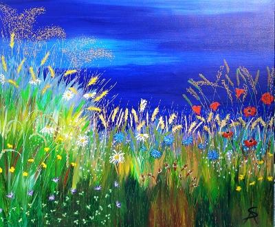 Blue Summer Hayfield 2