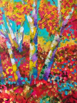 Purple Birch in Autumn